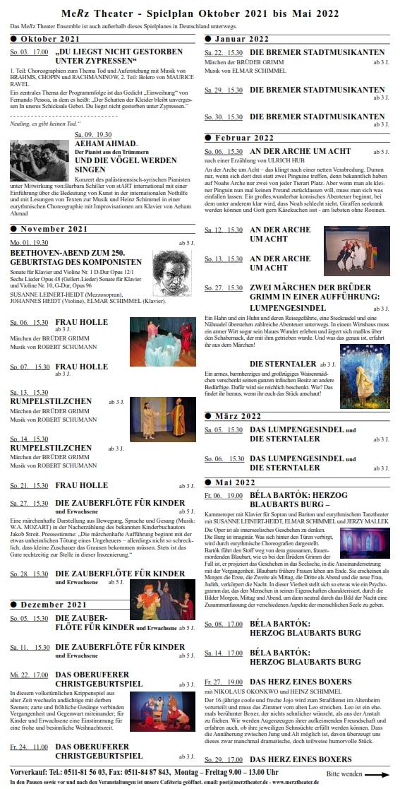 Programm Merztheater2021/2022
